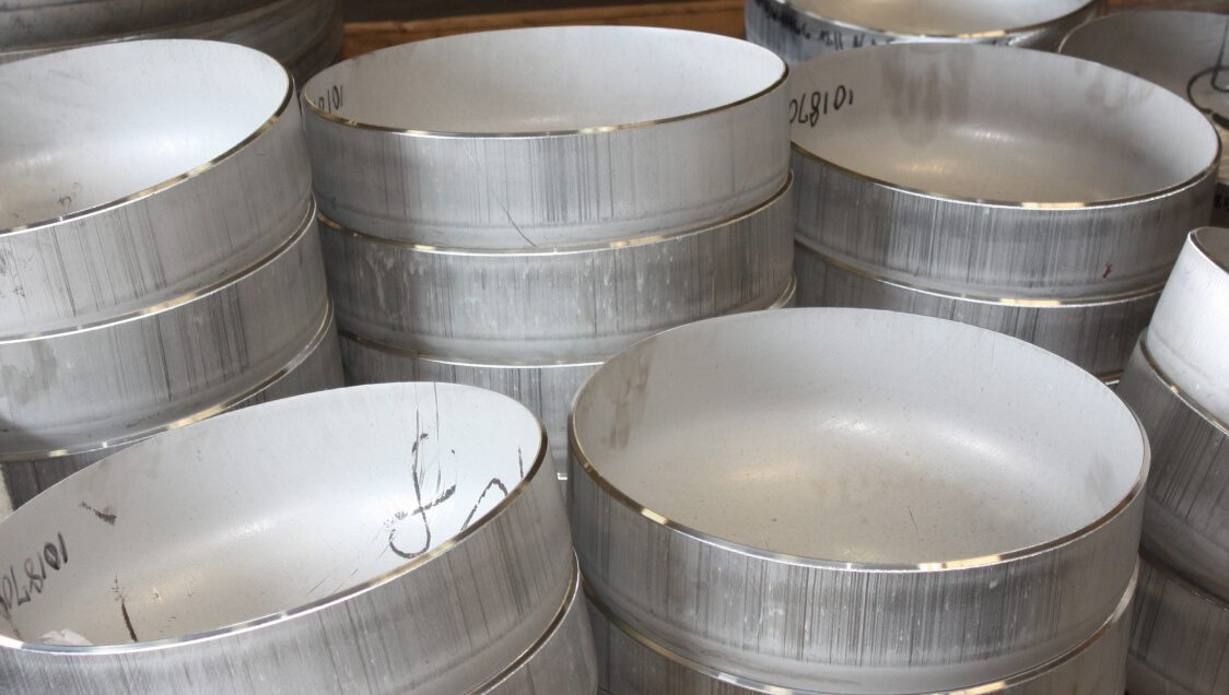 """Stock heads allow for high rate efficiency and execution when your business calls for a standard product. Available for next day shipment, Brighton's stainless stock heads range from 6.625""""OD to 36""""OD in the 2:1 Elliptical and 12""""OD to 36""""OD in the ASME Flanged & Dished."""